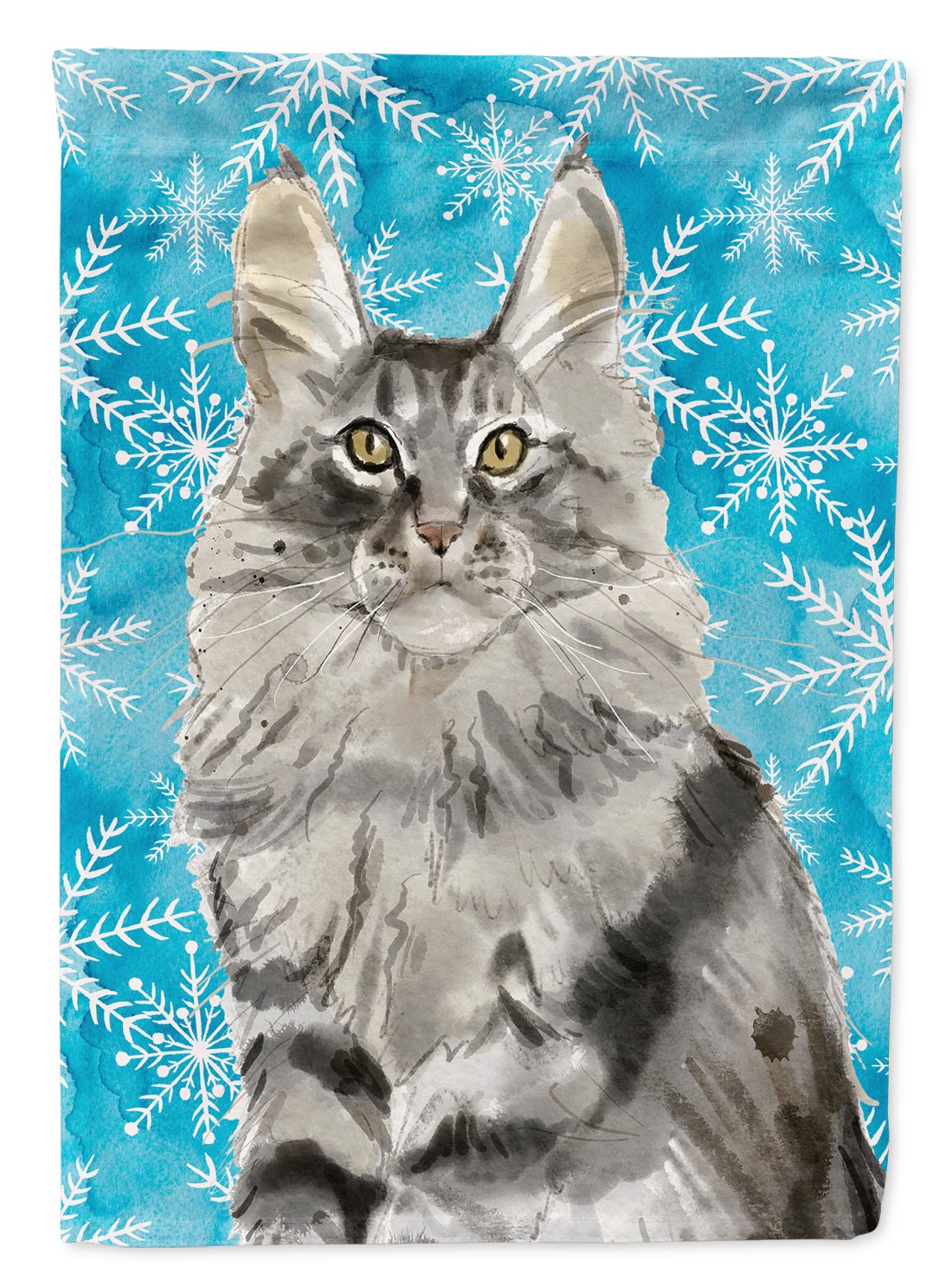 Maine Coon Winter Snowflake Flag Garden Size CK3109GF by Caroline's Treasures