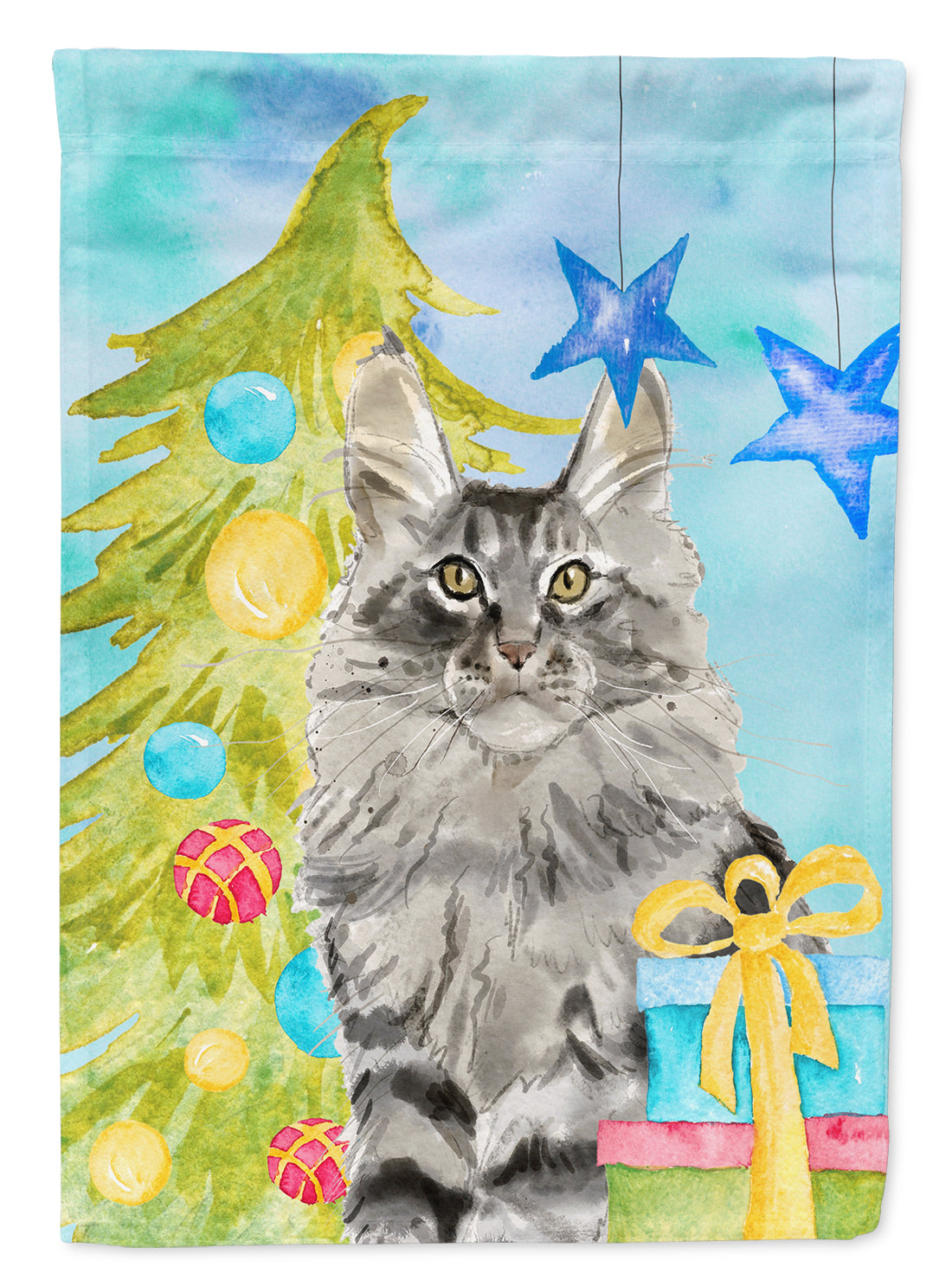 Maine Coon Christmas Presents Flag Garden Size CK3124GF by Caroline's Treasures