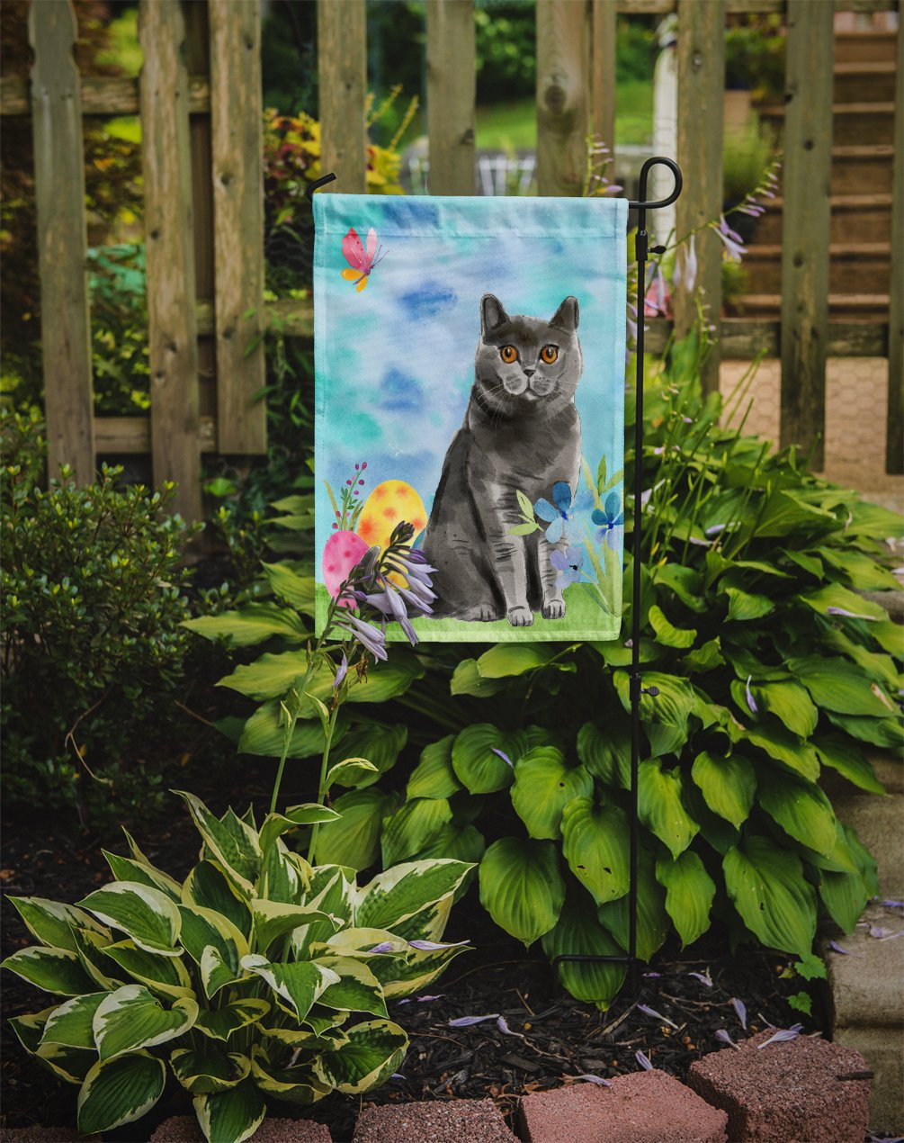 British Shorthair Easter Eggs Flag Garden Size CK3138GF by Caroline's Treasures