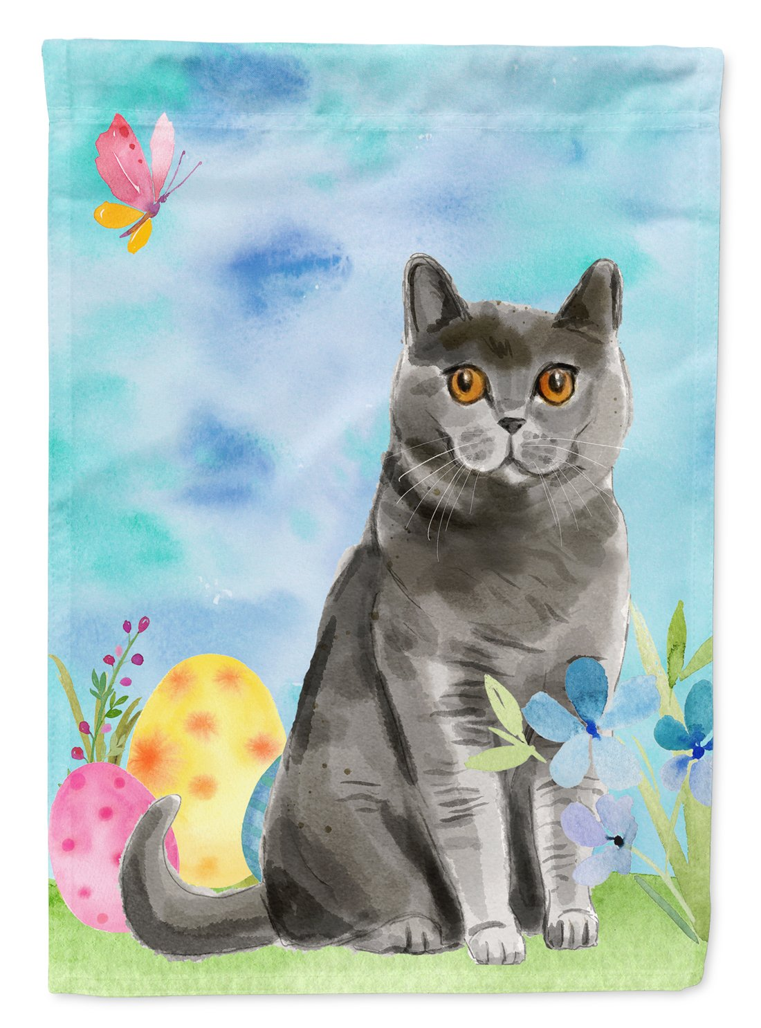 Buy this British Shorthair Easter Eggs Flag Garden Size CK3138GF