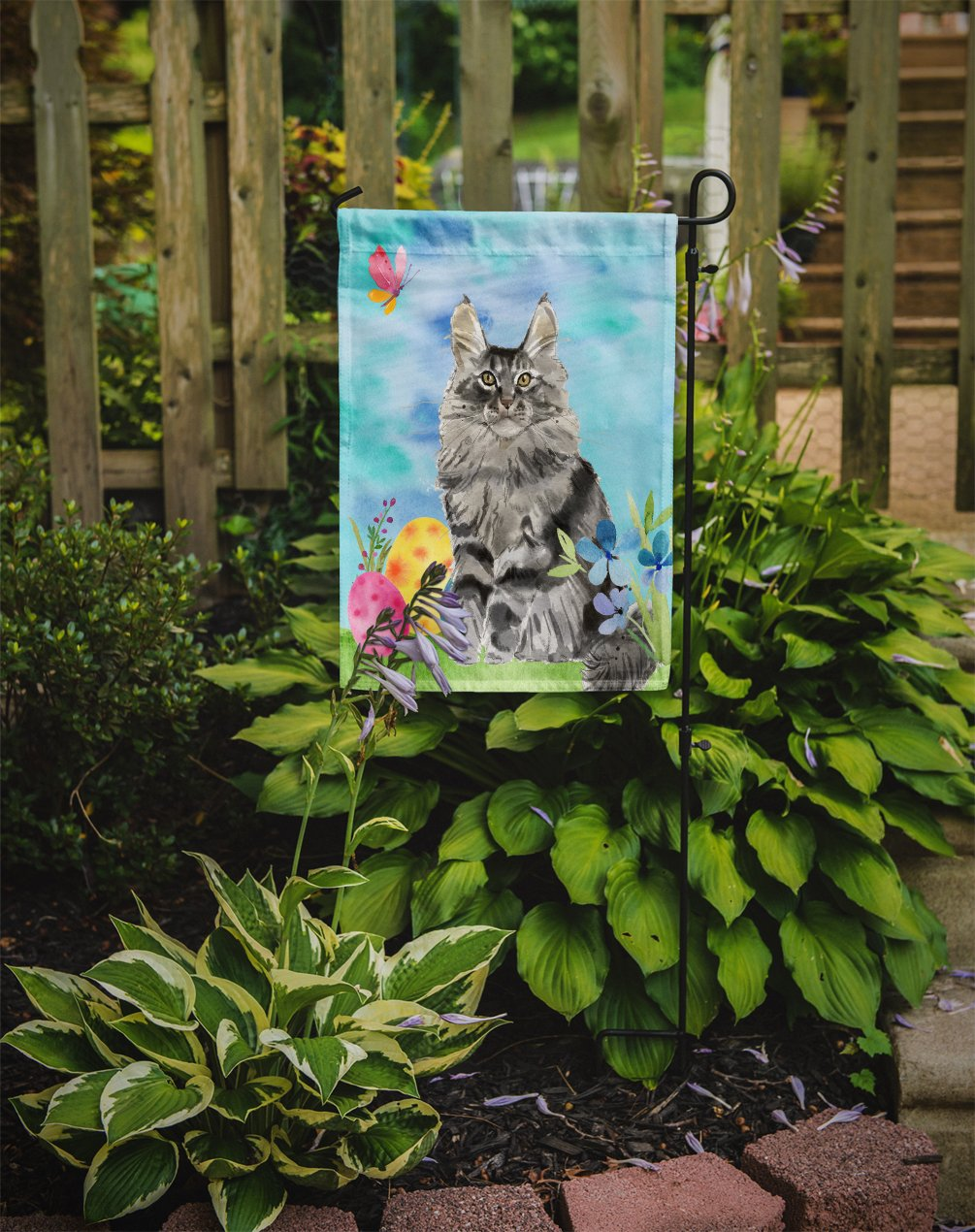 Maine Coon Easter Eggs Flag Garden Size CK3139GF by Caroline's Treasures