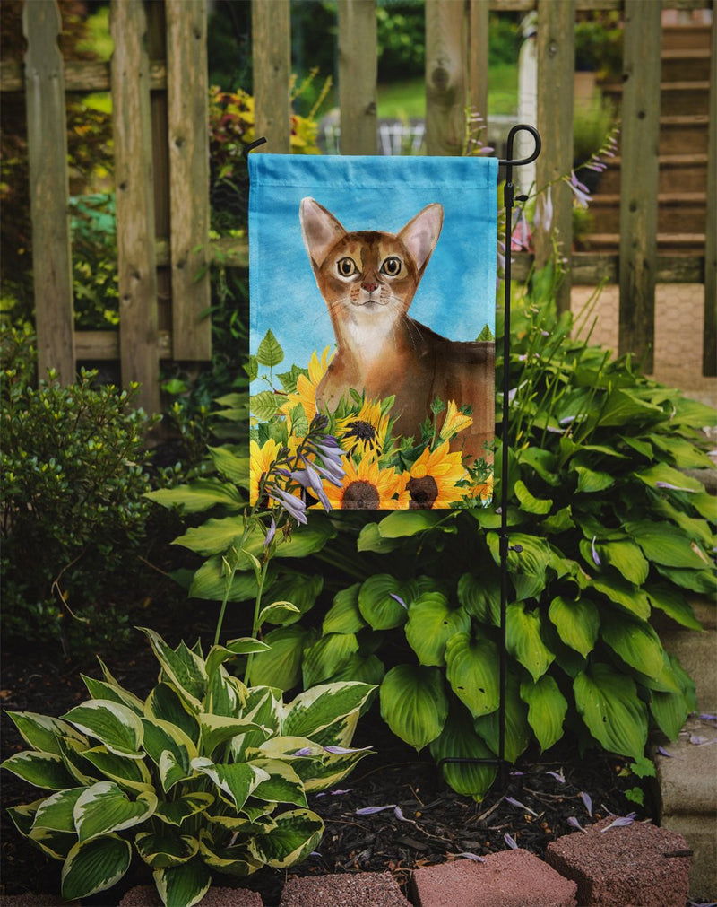 Buy this Abyssinian in Sunflowers Flag Garden Size CK3147GF