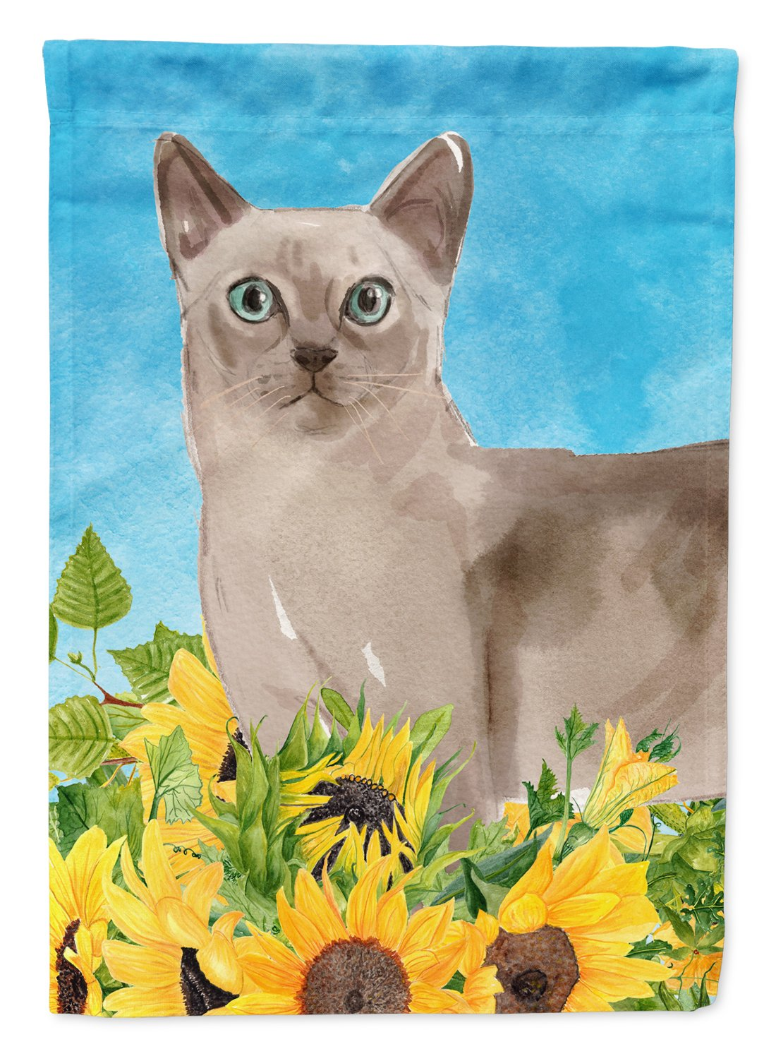 Buy this Tonkinese in Sunflowers Flag Garden Size CK3161GF