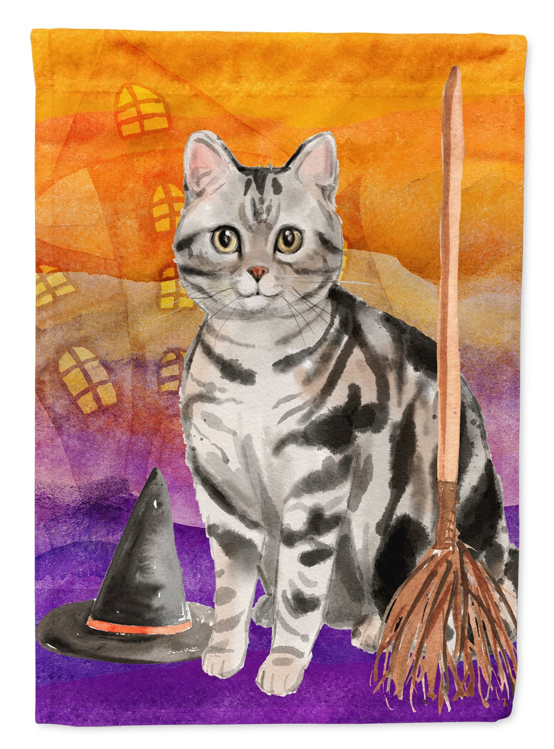 Buy this American Shorthair Halloween Flag Garden Size CK3179GF