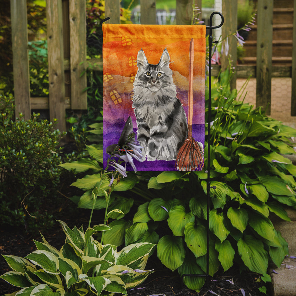 Maine Coon Halloween Flag Garden Size CK3184GF by Caroline's Treasures