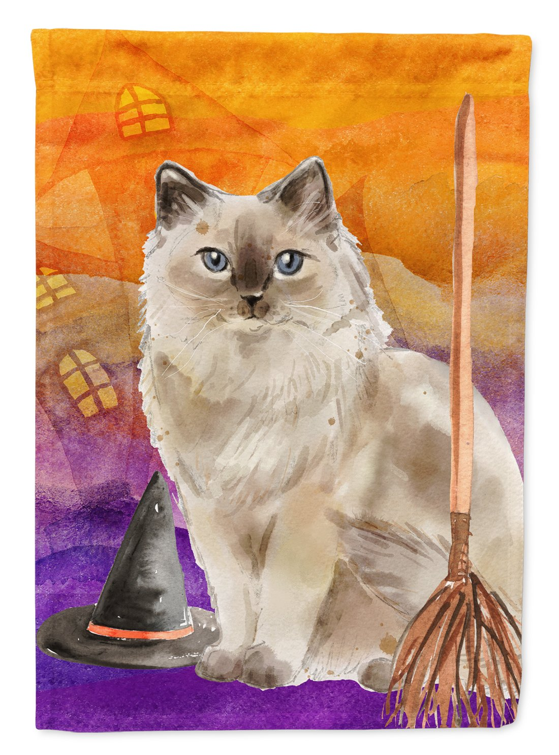 Buy this Ragdoll Halloween Flag Garden Size CK3187GF