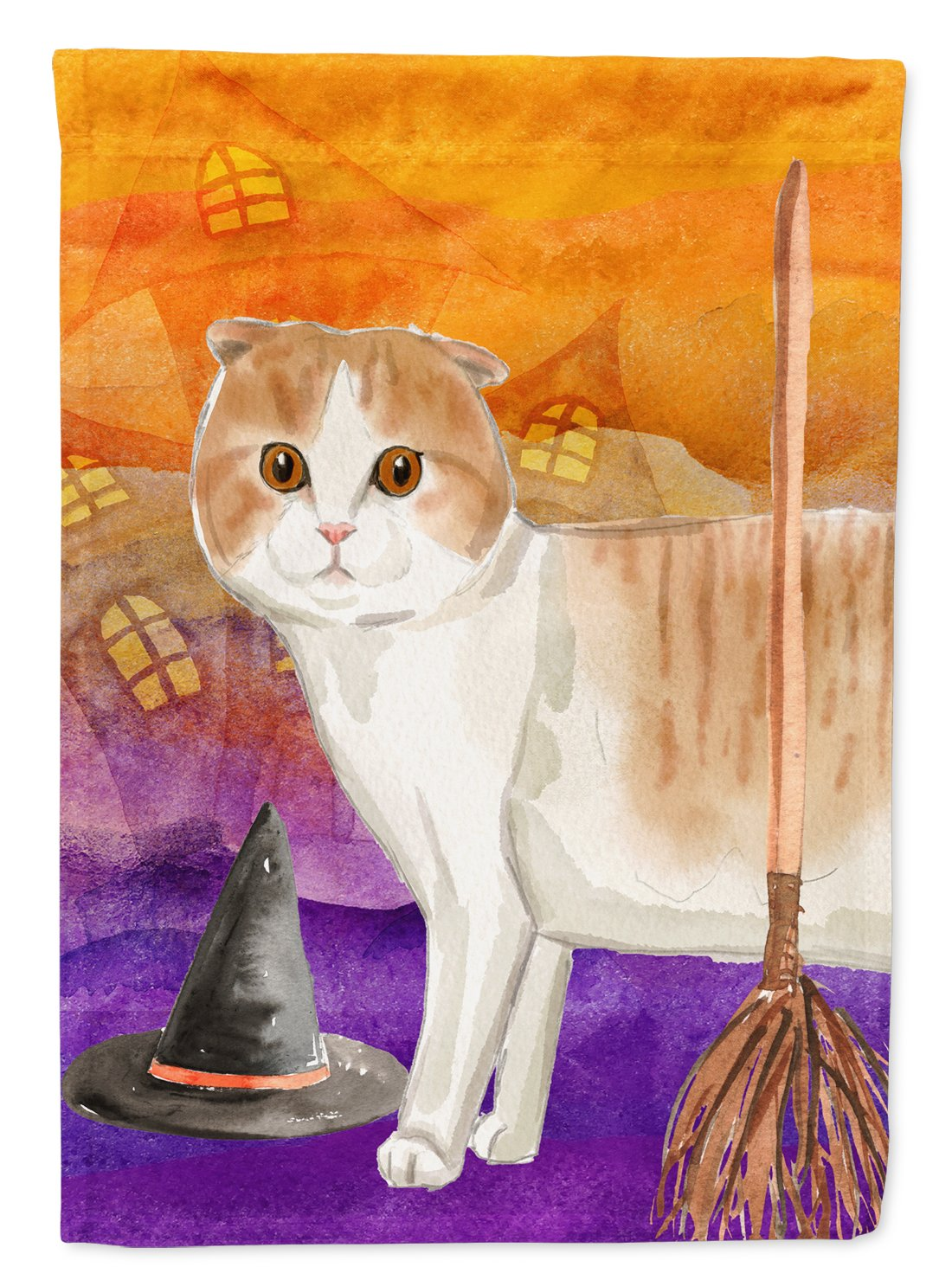 Buy this Scottish Fold Halloween Flag Garden Size CK3188GF