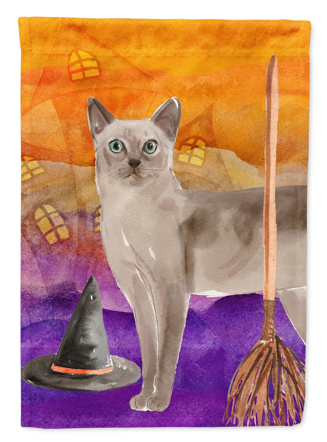 Buy this Tonkinese Halloween Flag Garden Size CK3191GF