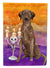 Buy this Hallween Chocolate Labrador Retriever Flag Garden Size CK3199GF