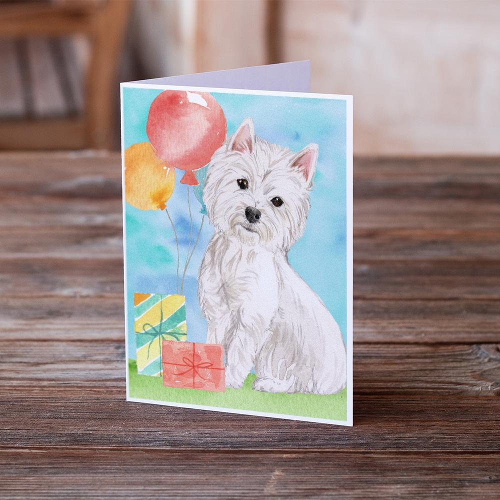 Buy this Happy Birthday Westie Greeting Cards and Envelopes Pack of 8