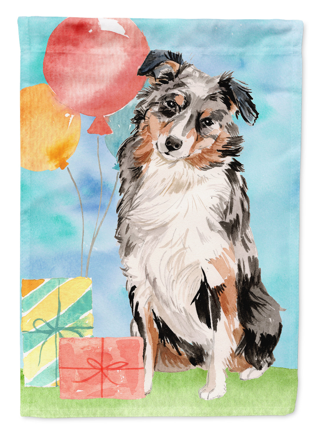 Buy this Happy Birthday Australian Shepherd Flag Garden Size CK3231GF