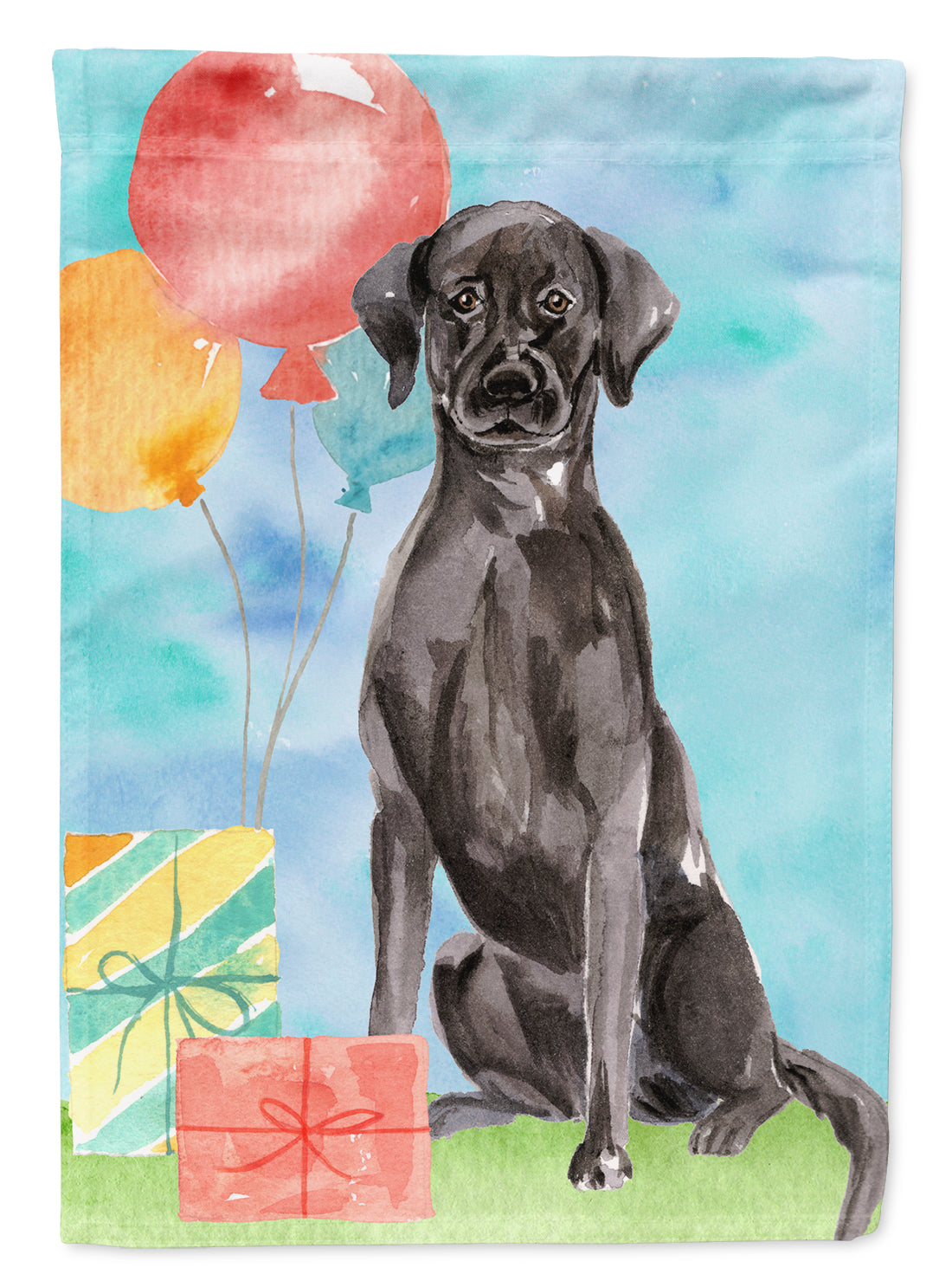 Buy this Happy Birthday Black Labrador Retriever Flag Garden Size CK3232GF