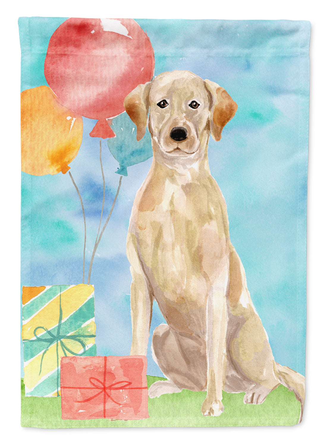 Buy this Happy Birthday Yellow Labrador Retriever Flag Garden Size CK3235GF