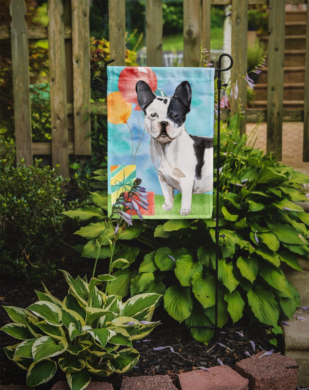 Happy Birthday French Bulldog Flag Garden Size CK3241GF by Caroline's Treasures