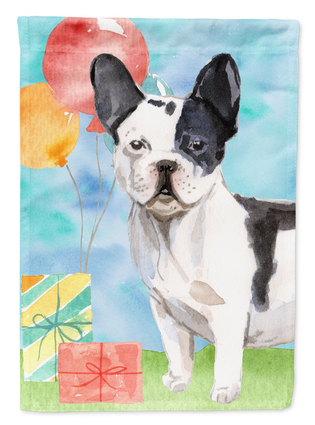 Buy this Happy Birthday French Bulldog Flag Garden Size CK3241GF