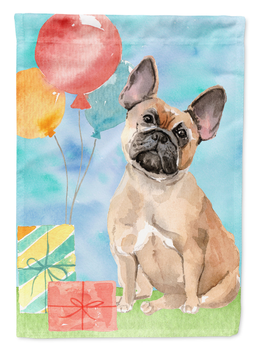 Buy this Happy Birthday Fawn French Bulldog Flag Garden Size CK3251GF