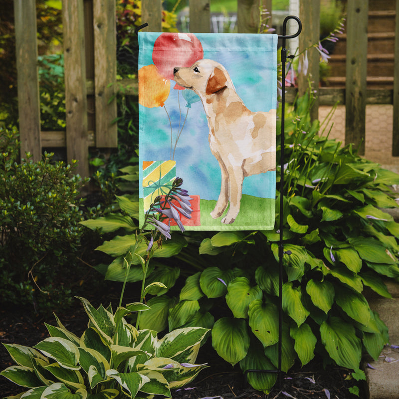 Buy this Happy Birthday Labrador Retriever Yellow Flag Garden Size CK3257GF