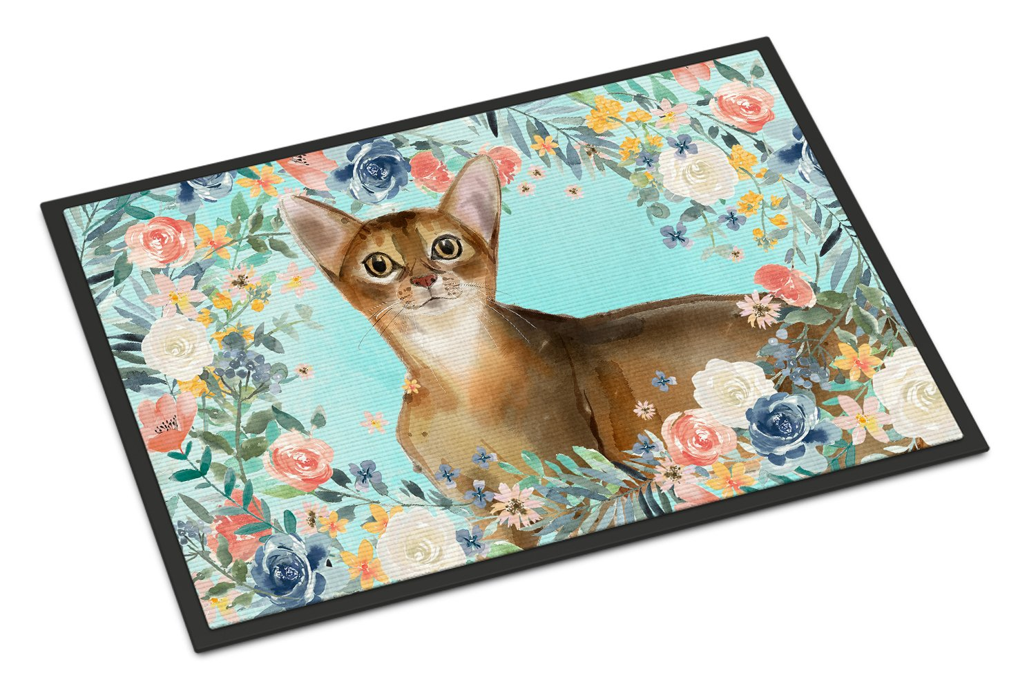 Buy this Abyssinian Spring Flowers Indoor or Outdoor Mat 24x36 CK3386JMAT