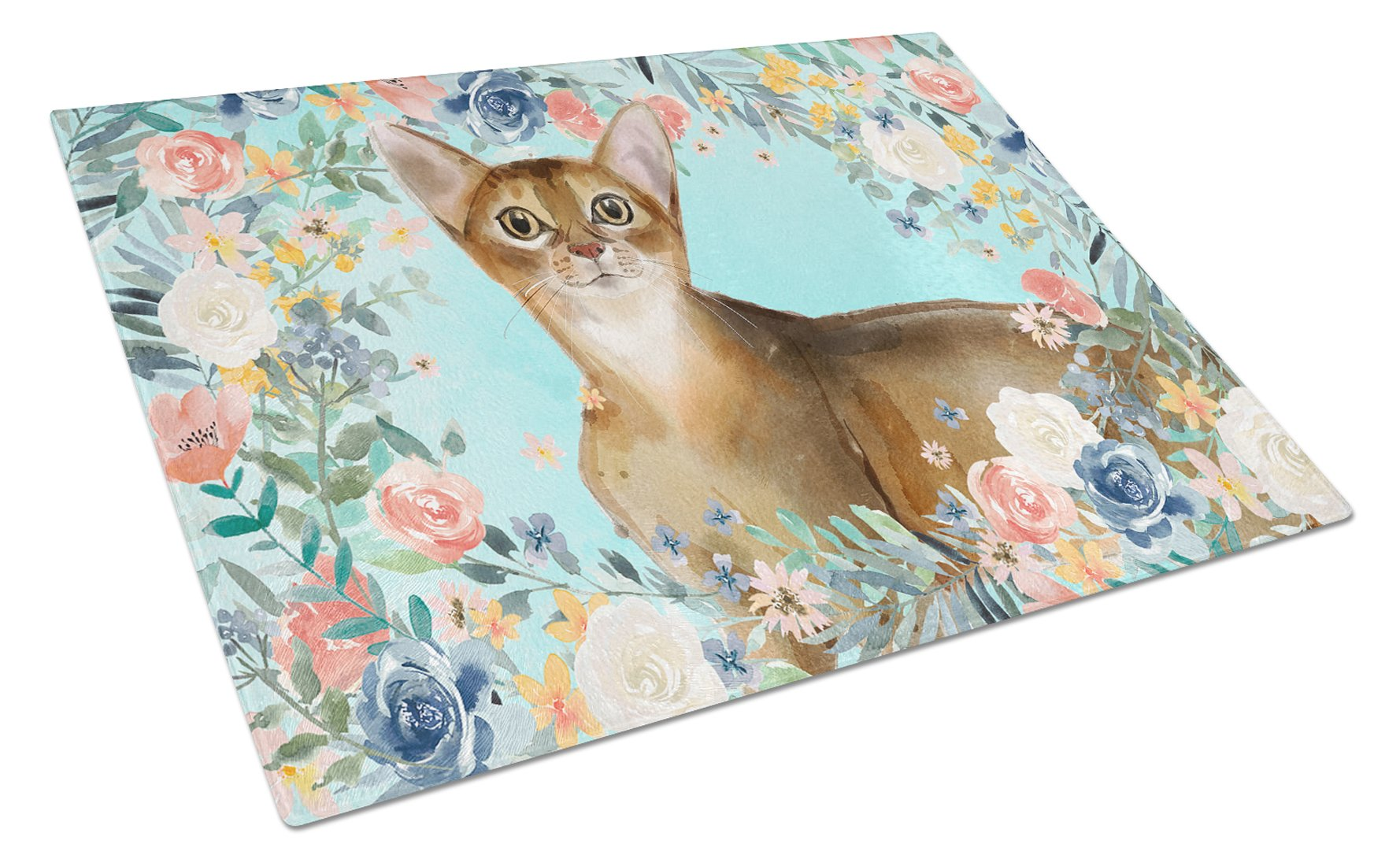 Buy this Abyssinian Spring Flowers Glass Cutting Board Large CK3386LCB