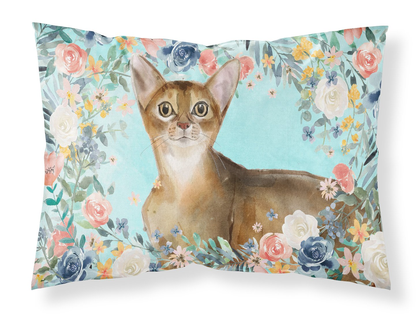 Buy this Abyssinian Spring Flowers Fabric Standard Pillowcase CK3386PILLOWCASE