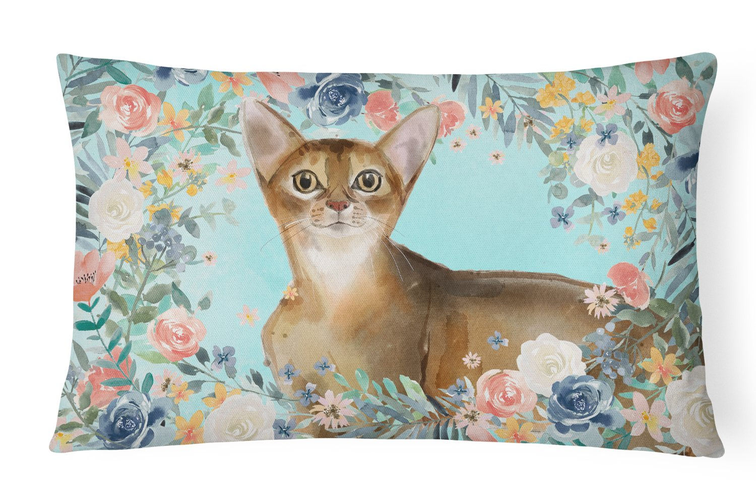 Buy this Abyssinian Spring Flowers Canvas Fabric Decorative Pillow CK3386PW1216