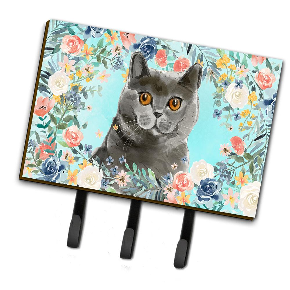 British Shorthair Spring Flowers Leash or Key Holder CK3392TH68 by Caroline's Treasures
