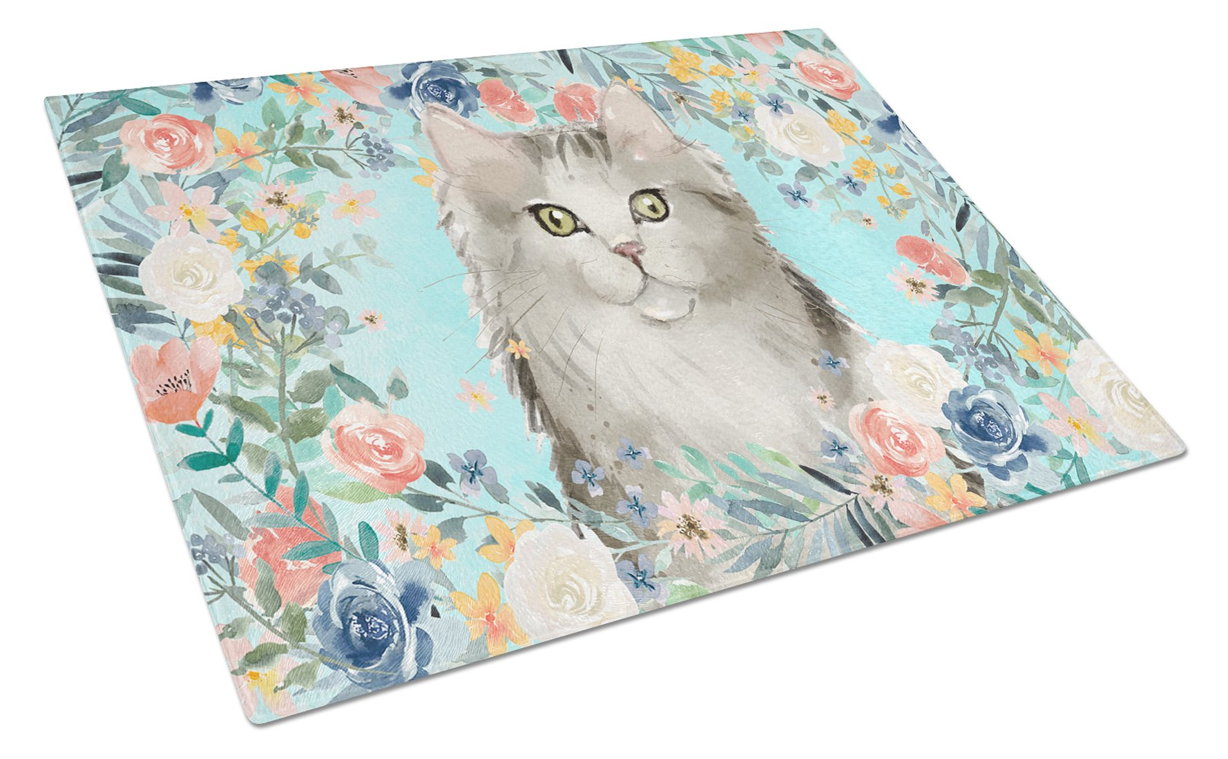 Buy this Ragamuffin Spring Flowers Glass Cutting Board Large CK3395LCB