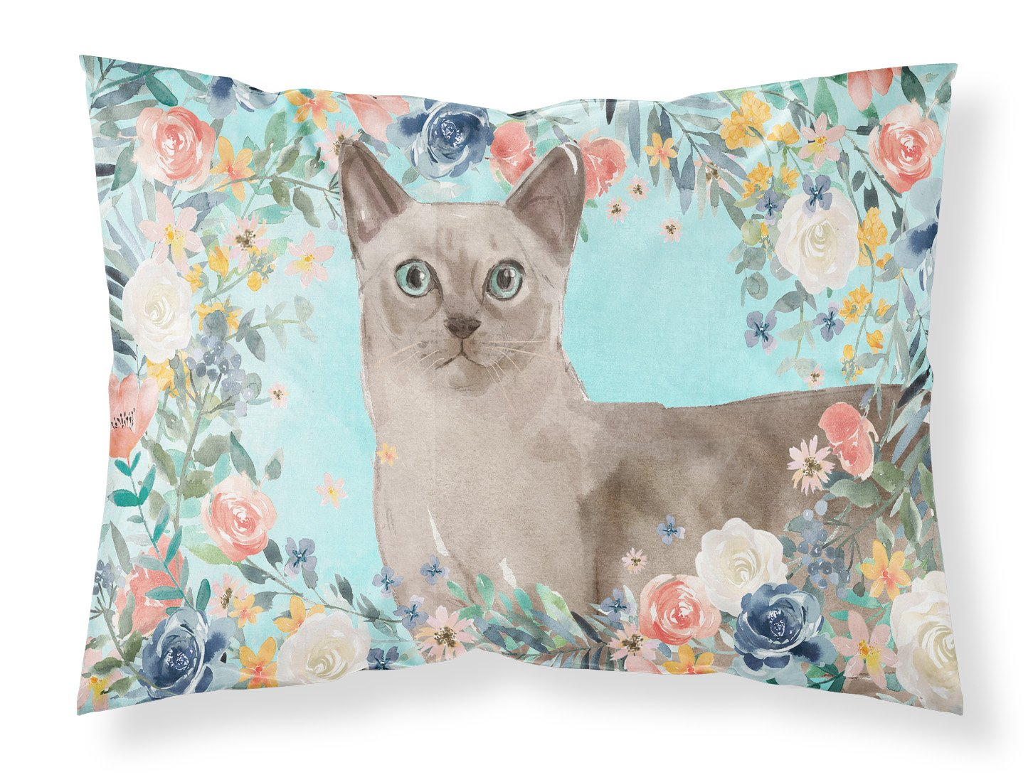 Buy this Tonkinese Spring Flowers Fabric Standard Pillowcase CK3400PILLOWCASE