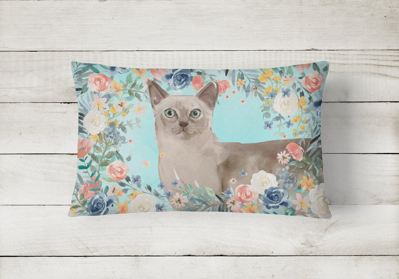 Buy this Tonkinese Spring Flowers Canvas Fabric Decorative Pillow CK3400PW1216