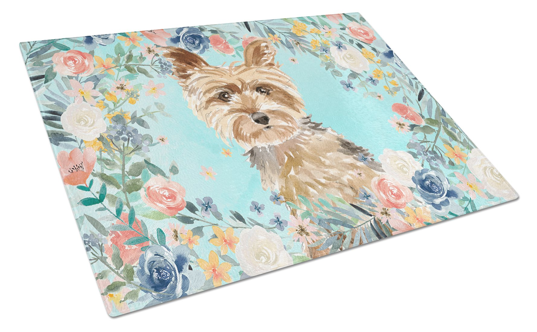 Yorkie Glass Cutting Board Large CK3401LCB by Caroline's Treasures
