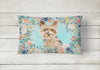 Yorkie Canvas Fabric Decorative Pillow CK3401PW1216