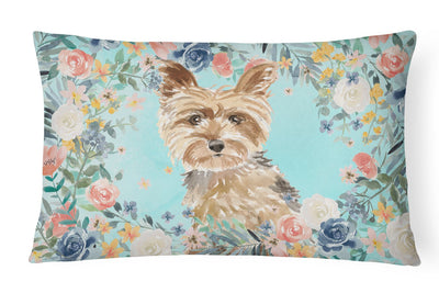 Buy this Yorkie Canvas Fabric Decorative Pillow CK3401PW1216