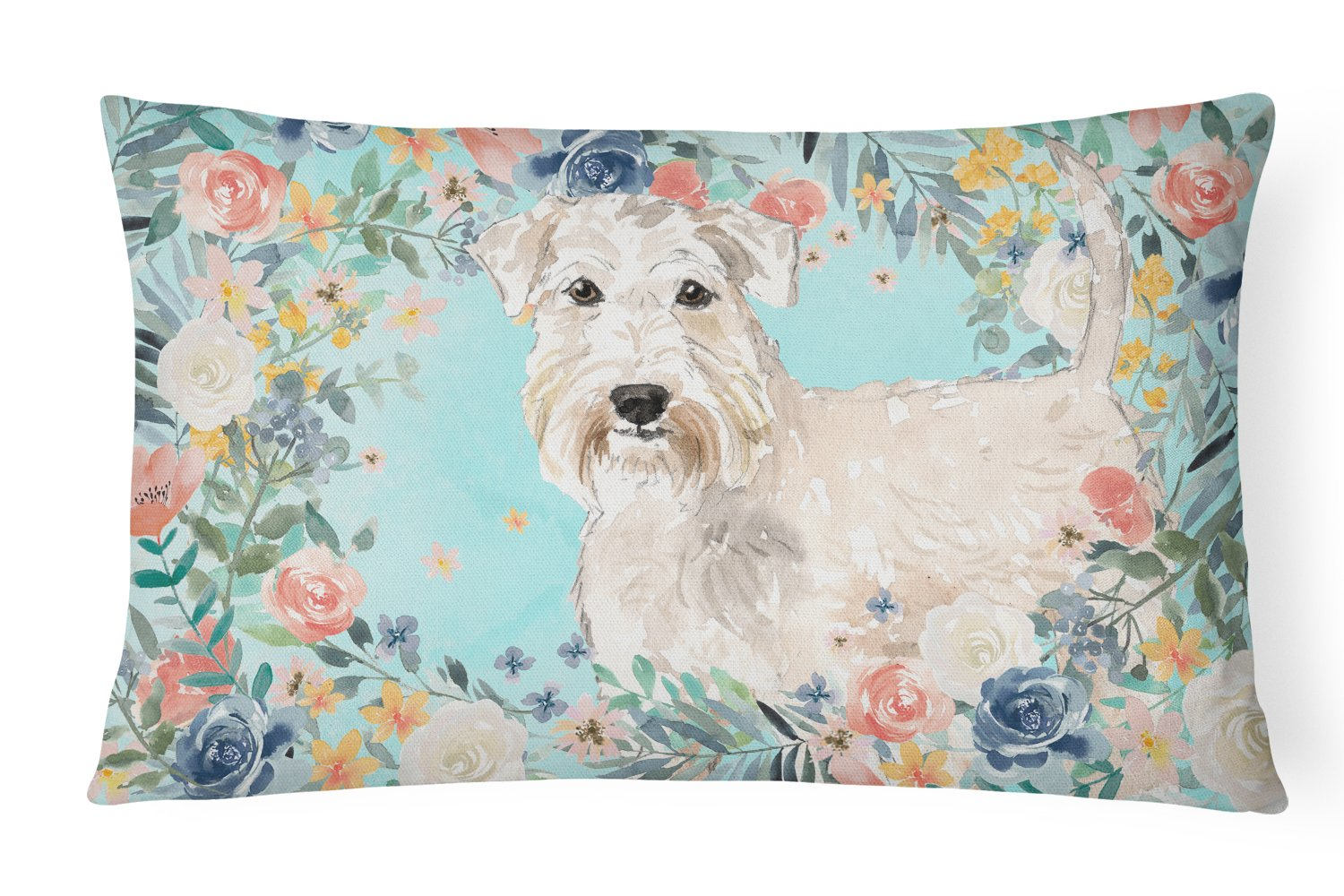 Buy this Wheaten Terrier Canvas Fabric Decorative Pillow CK3404PW1216