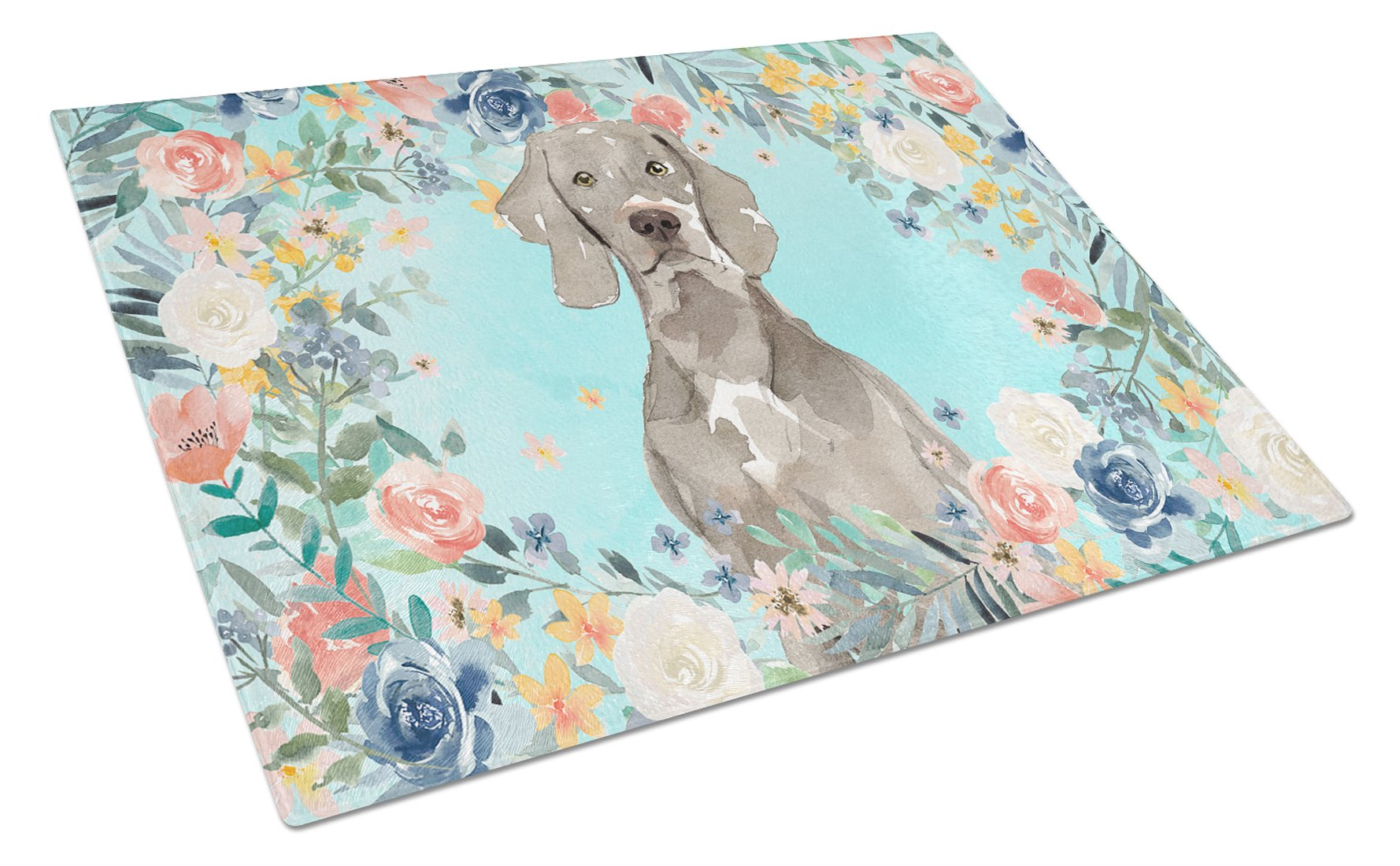 Buy this Weimaraner Glass Cutting Board Large CK3406LCB