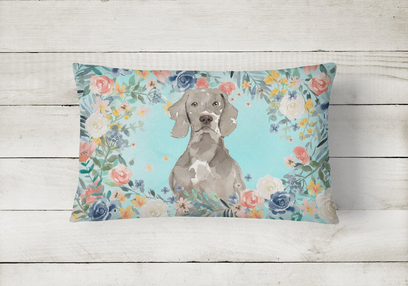 Buy this Weimaraner Canvas Fabric Decorative Pillow CK3406PW1216