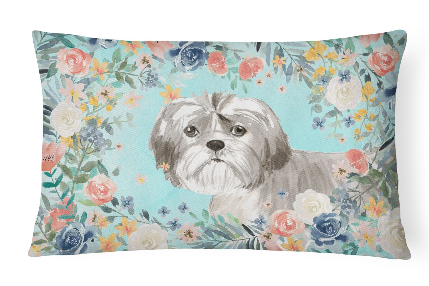 Shih Tzu Puppy Canvas Fabric Decorative Pillow CK3409PW1216 by Caroline's Treasures