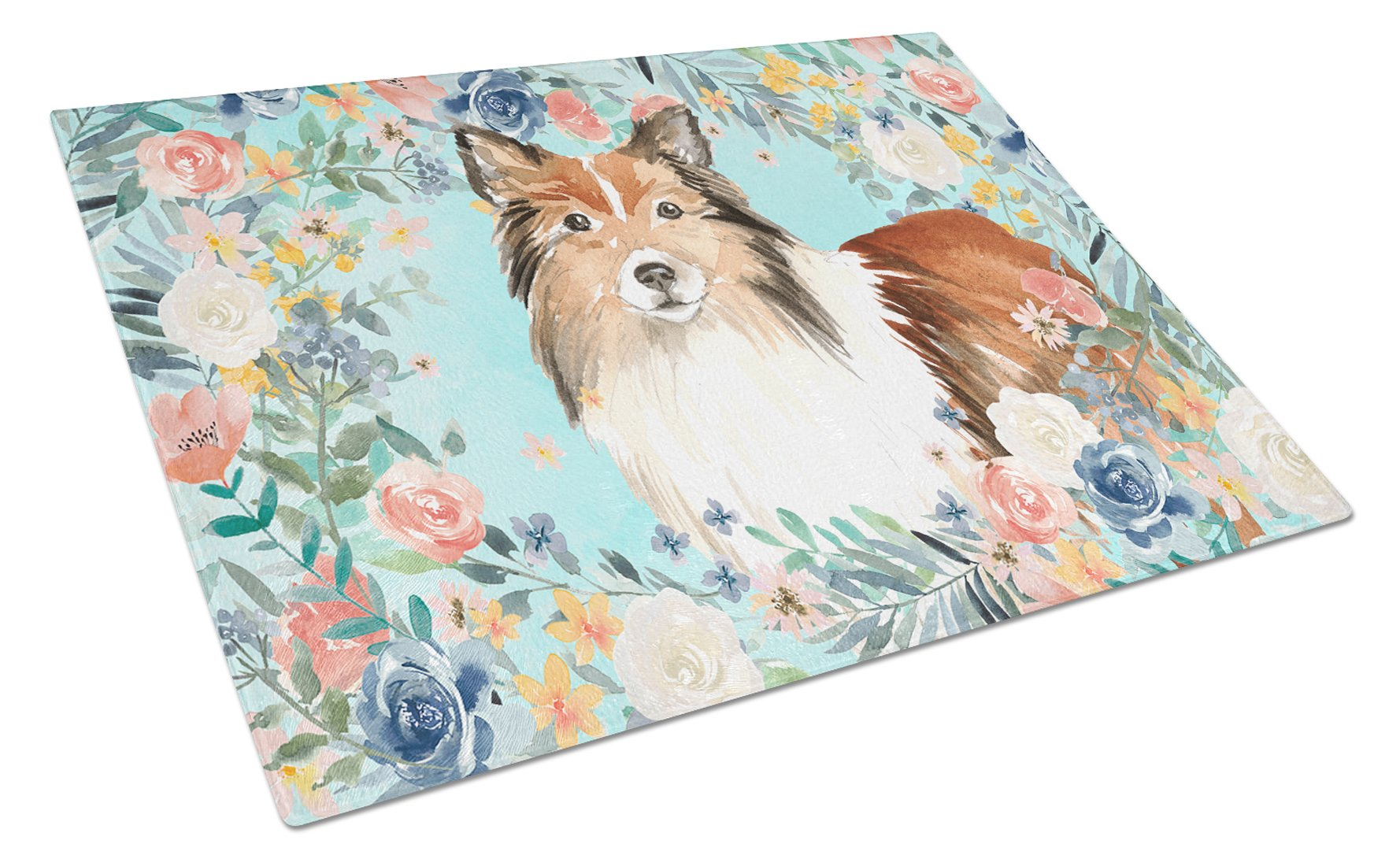 Buy this Sheltie Glass Cutting Board Large CK3411LCB