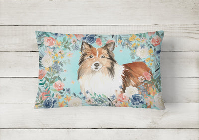 Sheltie Canvas Fabric Decorative Pillow CK3411PW1216