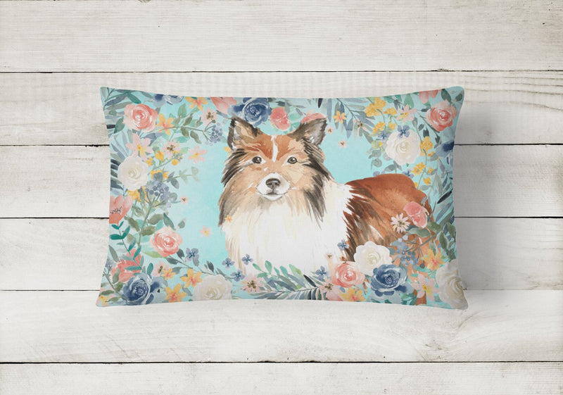 Buy this Sheltie Canvas Fabric Decorative Pillow CK3411PW1216