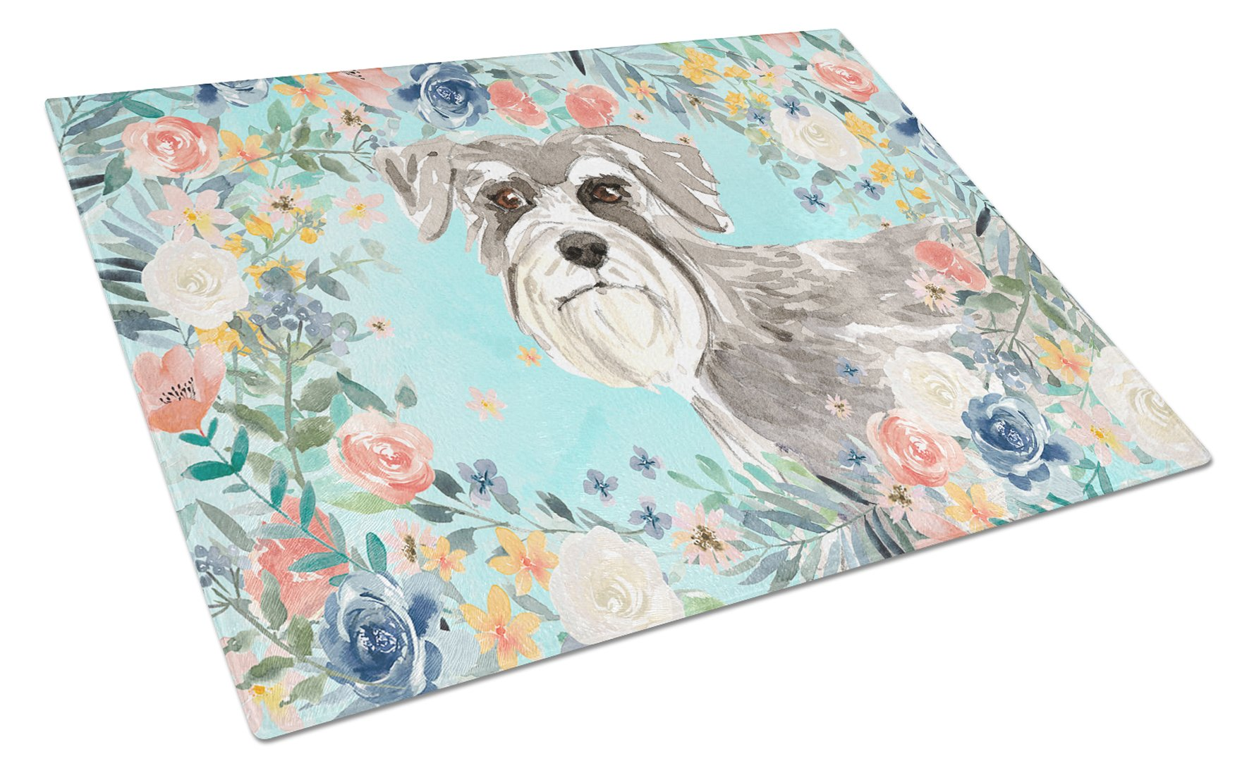 Buy this Schnauzer #1 Glass Cutting Board Large CK3413LCB