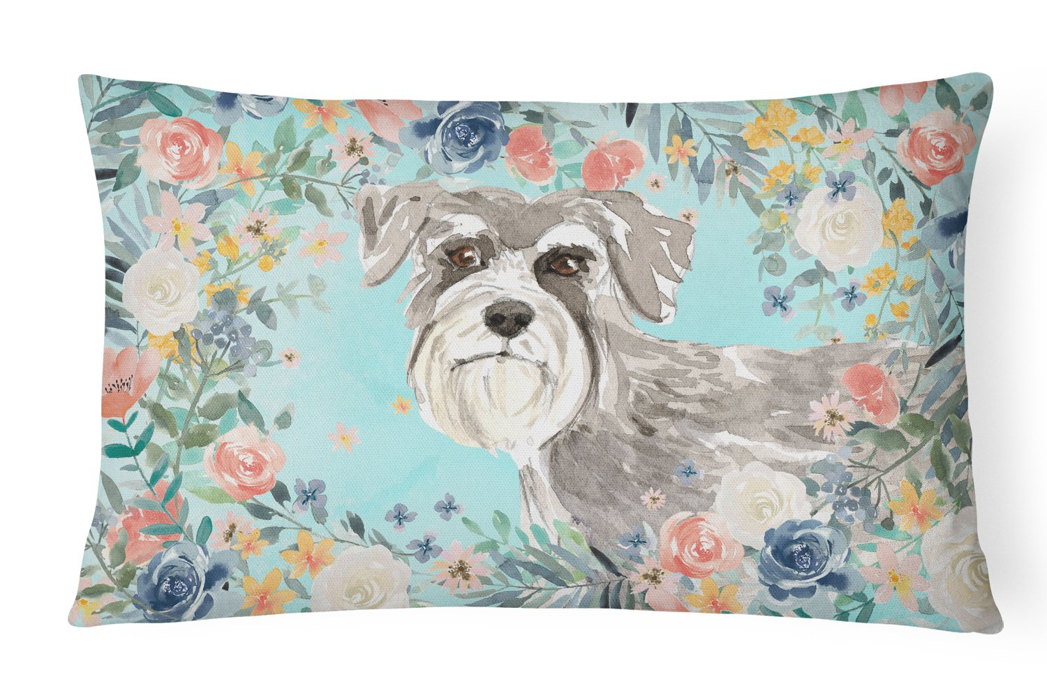 Buy this Schnauzer #1 Canvas Fabric Decorative Pillow CK3413PW1216
