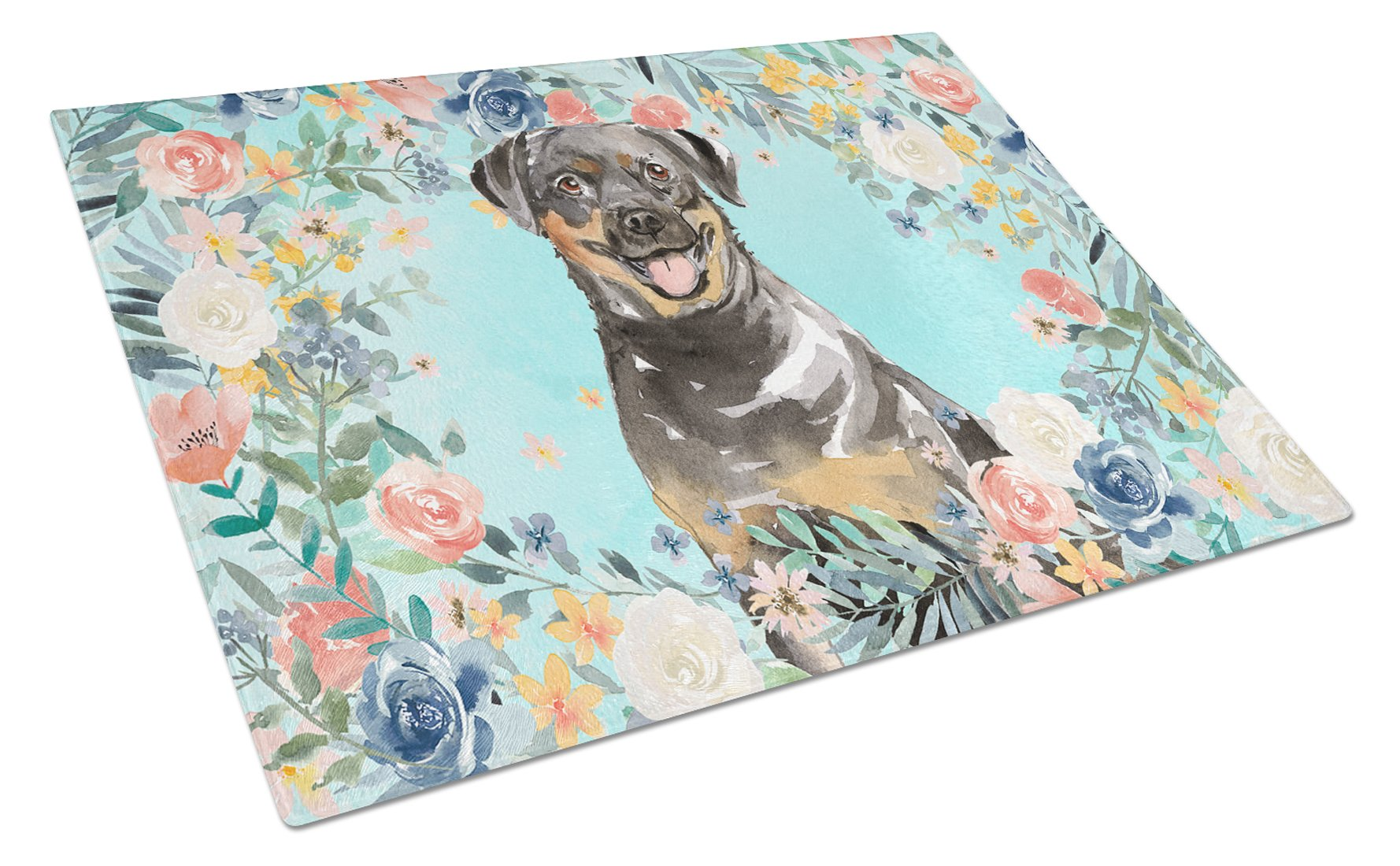 Buy this Rottweiler Glass Cutting Board Large CK3415LCB