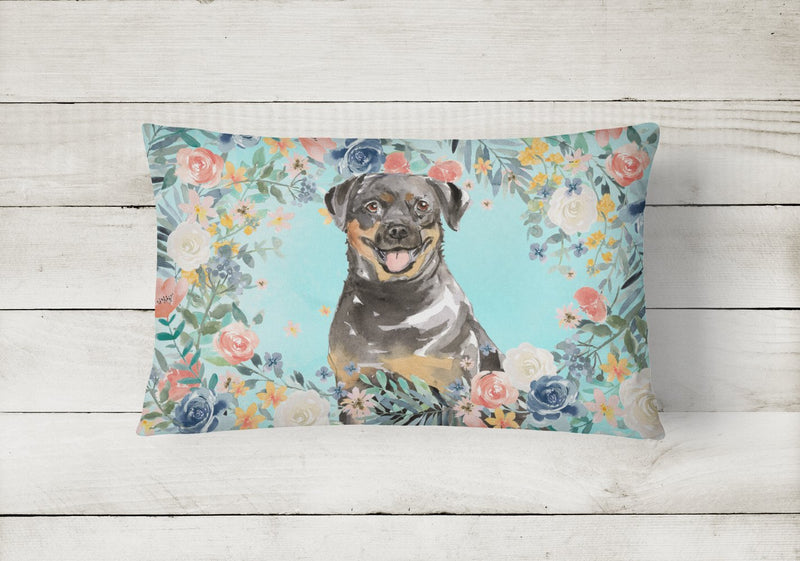 Buy this Rottweiler Canvas Fabric Decorative Pillow CK3415PW1216