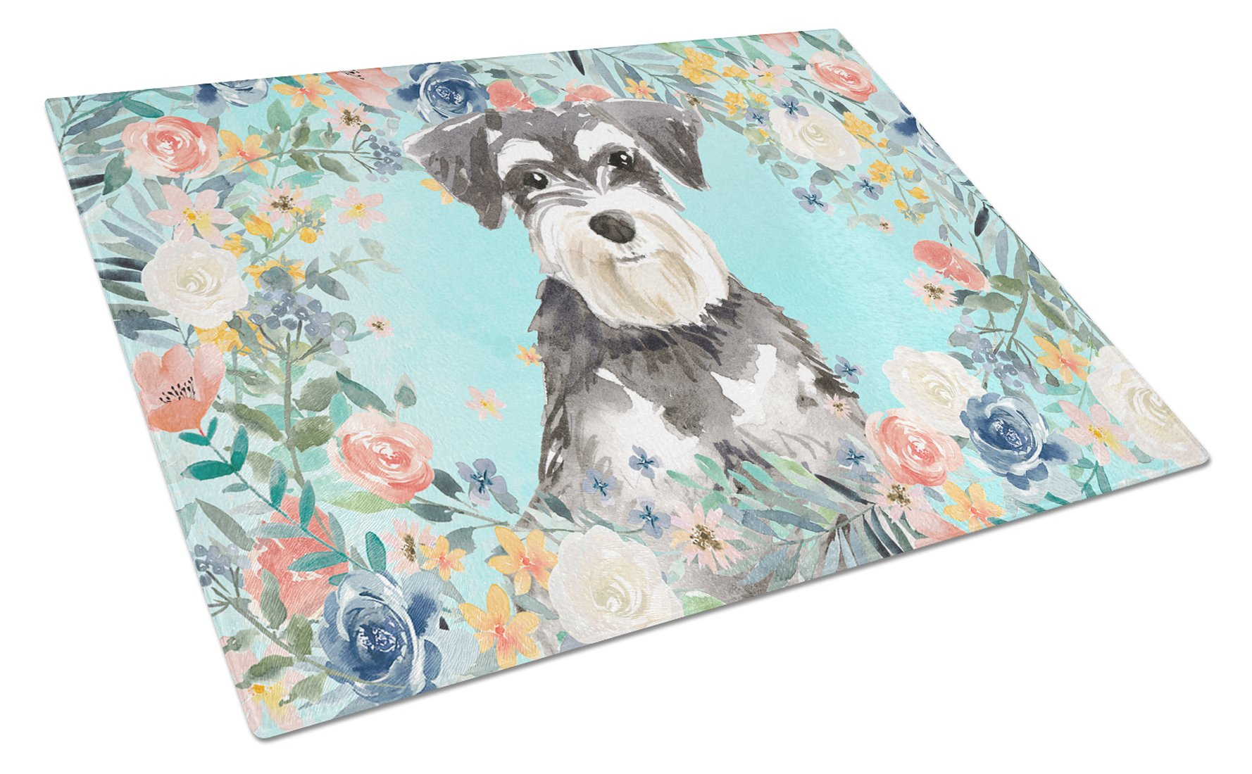 Buy this Schnauzer #2 Glass Cutting Board Large CK3417LCB