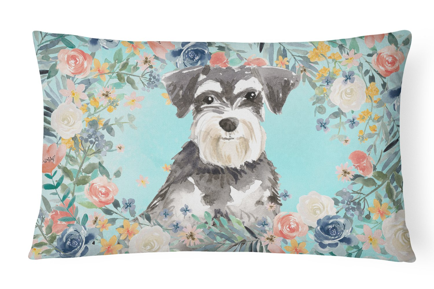 Buy this Schnauzer #2 Canvas Fabric Decorative Pillow CK3417PW1216