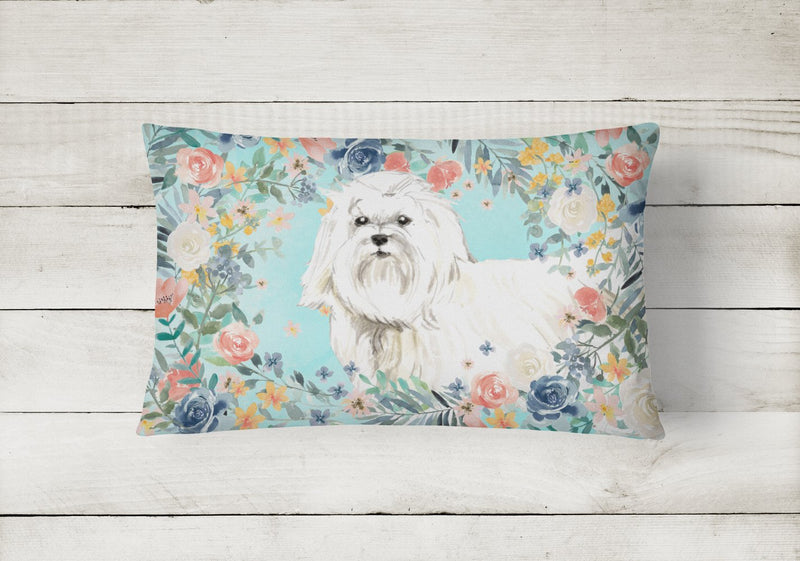 Buy this Maltese Canvas Fabric Decorative Pillow CK3418PW1216