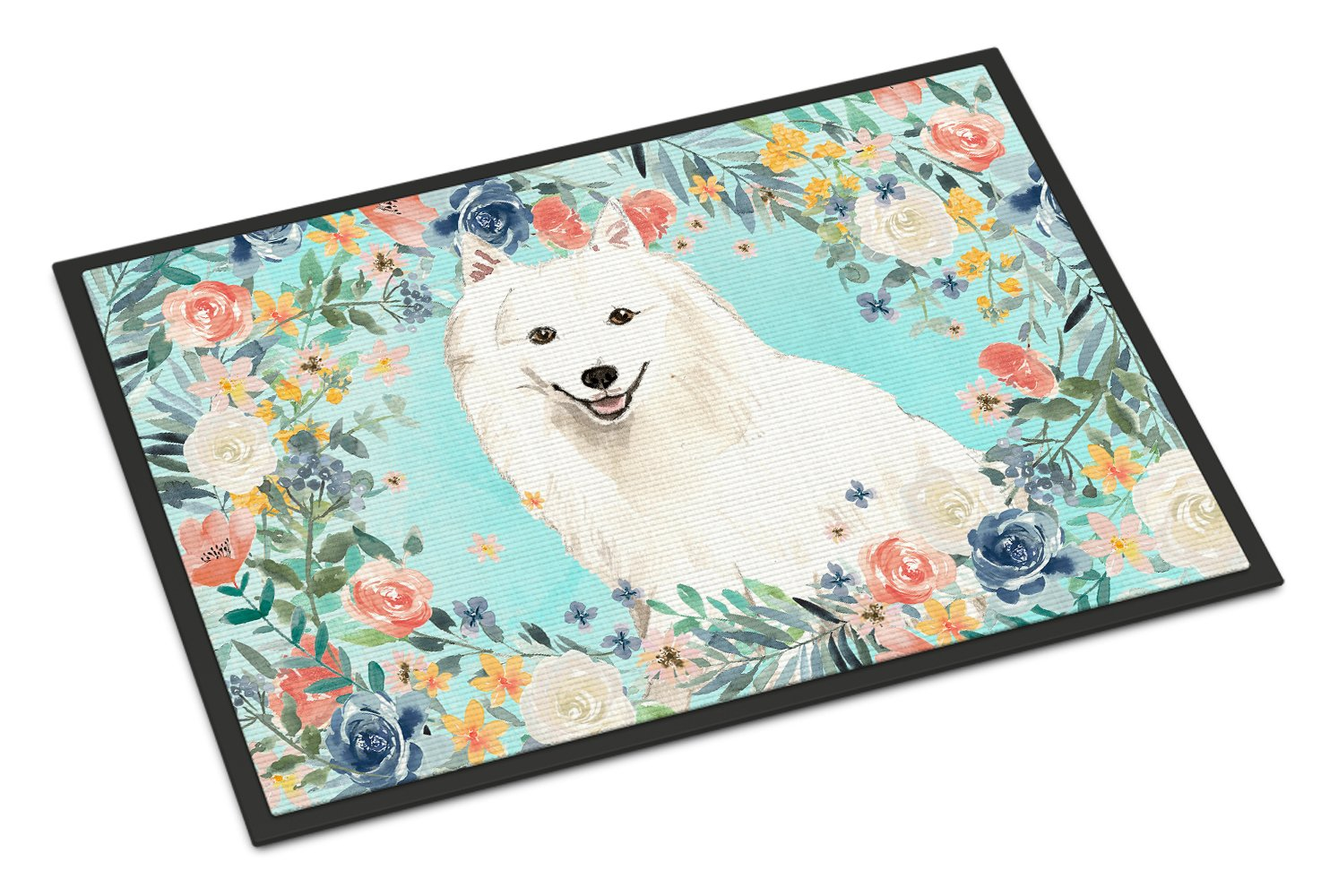 Japanese Spitz Indoor or Outdoor Mat 24x36 CK3422JMAT by Caroline's Treasures