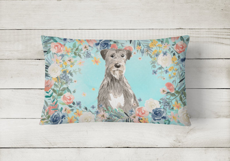 Buy this Irish Wolfhound Canvas Fabric Decorative Pillow CK3423PW1216