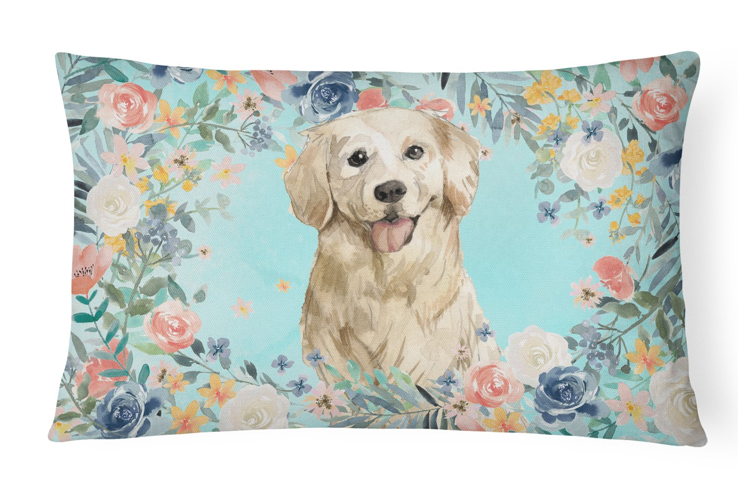 Buy this Golden Retriever Canvas Fabric Decorative Pillow CK3425PW1216