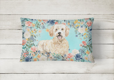 Goldendoodle Canvas Fabric Decorative Pillow CK3426PW1216